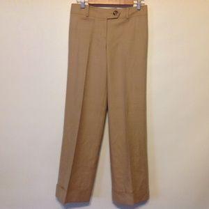 Ann Taylor Dress Pants Womens 2 Stretch Wool Beige